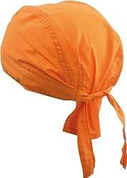 Shenky Bandana Cap from 100% Cotton - Biker Scarf - Orange (Triple Pack) - Normal