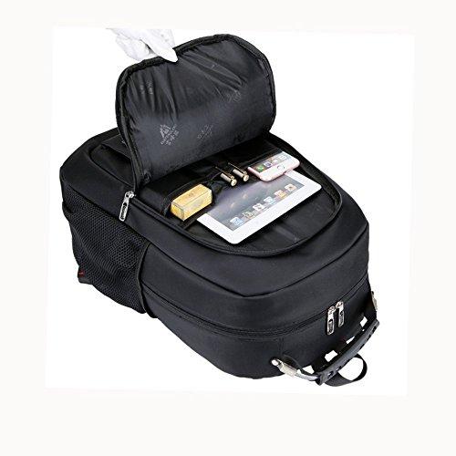 YAAGLE Herren und Damen Rucksack Laptoprucksack für 16 Zoll wasserdichte Schultasche Tasche für Trekking, Ausflug und Wanderung rot grau