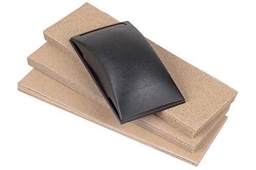 Wolfcraft 2898000 2898000-1 Juego de lijador, compuesta de: Bloque de lijar Manual 130 x 70 x 32 mm, 50 Tiras abrasivas 70 x 210 mm, plata