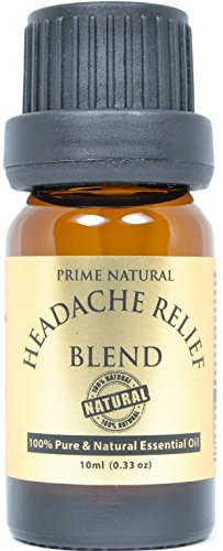 Headache Relief Essential Oil Blend 10ml / 0.33oz - 100% Natural Pure Undiluted Therapeutic Grade for Aromatherapy, Scents & Diffuser - Migraine, Tension, Relaxation, Stress...