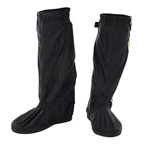 F Fityle Wasserdichte Regenüberschuhe Fahrrad Motorrad Regenschuhe Überziehschuhe Schuhüberzieher Überschuhe für Camping Wandern Radfahren Bergsteigen - Schwarz, 2XL