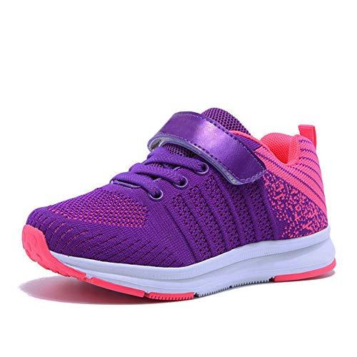 Sneaker Mädchen Laufschuhe Jungen Hallenschuhe Jungen Outdoor Sportart Schuhe Low-Top für Unisex-Kinder, Gr.-32 EU=33CN, Rosa