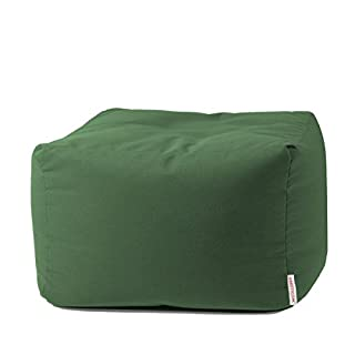 Arketicom Soft Outdoor Pouf Pouffe Bean Bag Footstool Garden Living Room Furniture Modern Home Filled with Polystyrene Balls Pouf Terrace Pool Design For Outdoor Use (Pouffe Puf) CUBO 84 x 42 cm olive