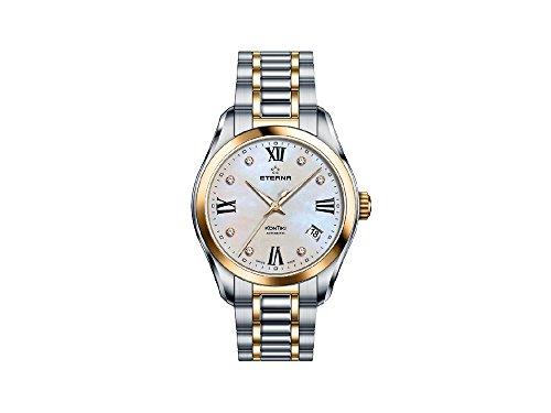 Eterna Lady KonTiki Automatic Watch, SW 200-1, PVD, Diamonds, Mother of pearl