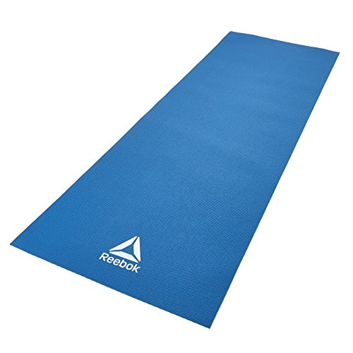 Reebok Yogamatte, Yoga Mat - 4mm - Blue, blau, 4mm - Reebok Yoga Set