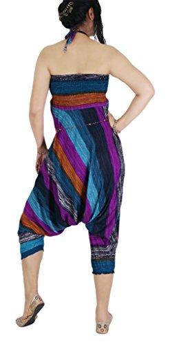 AuthenticAsia Damen Harem Hose Mehrfarbig mehrfarbig One size Violett