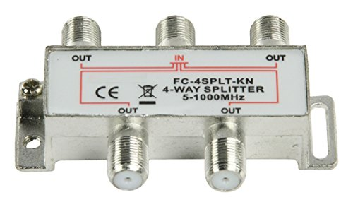 Master - Satellite F-Splitters 4-way Splitter 1000mhz