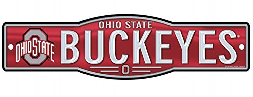 Wincraft Snack-Schale NCAA Ohio State University Osu (Buckeyes 10,2x 43,2cm Zoll Kunststoff Straßenschild -