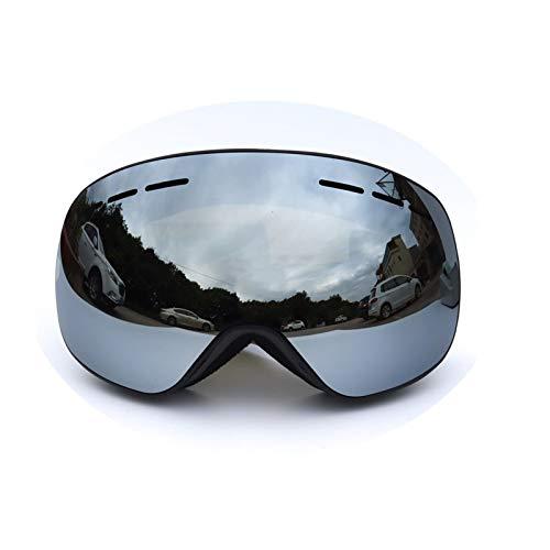 Sportsonnenbrille Herren Magnet Skibrille Große Kugelförmige Doppelte Permanente Anti Fog Spiegel Im Freien Klettern Spiegel Coca Myopie Black Silver Damen Herren