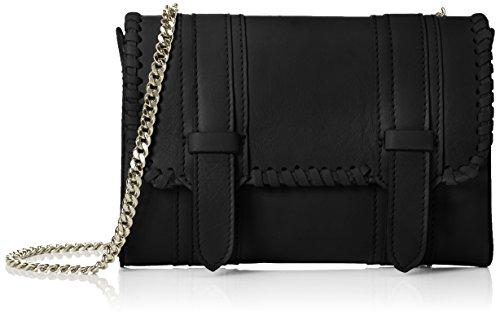 kaviar gauche - Mini Satchel Bag braided, Borsa a tracolla Donna Nero (Nero (Black/Silver))