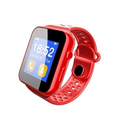 TPulling Mode I8 Smart Armband GPS Herzfrequenz Schrittzähler-Schlaf-Überwachungs-intelligenter Uhr-SIM-Schlitz für Samsung für Android-Telefon Armbanduhr Smart Watch Fitness Tracker Blutdruckmessgerät Activity Tracker Smartwatch Bluetooth Smart Armband Sportuhr (Rot)