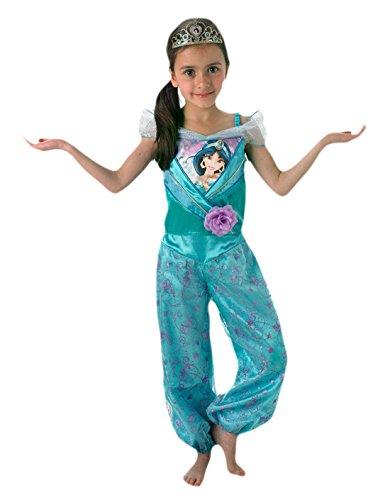 erdbeerloft - Mädchen Karneval Komplett Kostüm Prinzessin Jasmine , Hellblau, 98-104, 3-4 (Disney Kostüme Damen Jasmine)