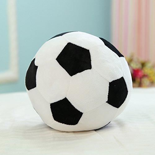 Weiches Fußball Plüsch Spielzeug für Baby, Kinder, 20cm, weiß und gelb (Fußball Plüsch)