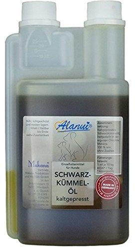 alanui Schwarzkümmelöl in der praktischen Dosierflasche (für Tiere), 1er Pack (1 x 500 ml)
