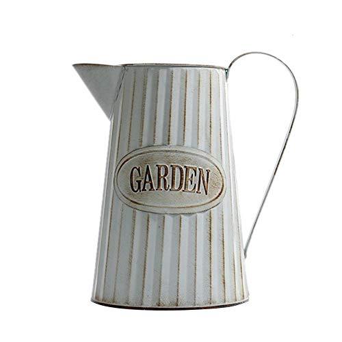 Meetgre vaso di fiori ferro retro giardinaggio fiore pianta vaso bollitore retro vintage ferro vaso annaffiatoi shabby chic metal pitcher per giardinaggio o composizioni floreali