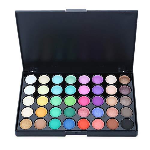 15/04/40 Colores Maquillaje De Ojos Nudes Paleta Mate Sombra De Ojos Pallete Brillo Polvo Sombra De Ojos Tierra Sombra Brocha Conjunto (Color : Rosa claro)