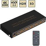 4K@60Hz HDMI Switch 5x1 Awakelion Premium Quality 5 In 1...