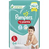 Pampers Diaper Pants, Large, 64 Count
