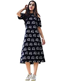 Royal Export Women's A-Line Knee-Long Dress