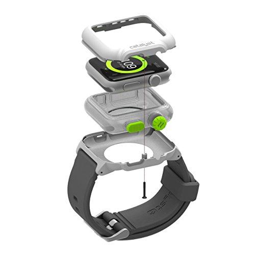 CATALYST CATIWATRES Unterwassergehäuse mit Apple-Uhrband 42mm rot grün