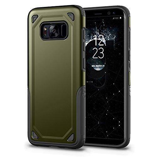 HHF Cases & Covers Für Samsung Galaxy S8 Stoßfest Robuste Rüstung Schutzhülle (Color : Army Green) -