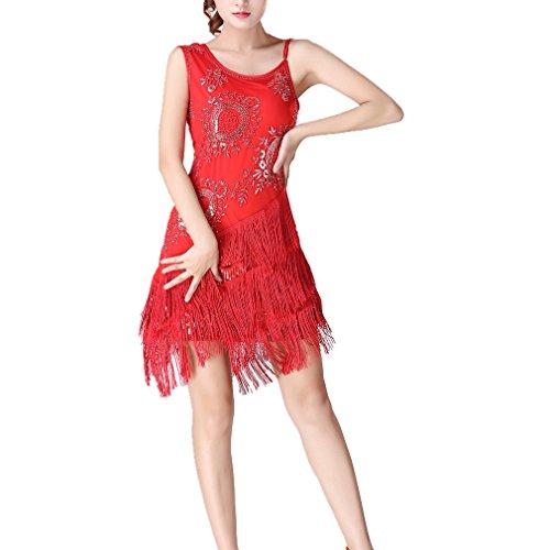 RichDeer Erwachsener Jazz / Latein / Ballett-Tanz-Kostüm Frauen-Partei verkleiden oben Tanzen-Oberseiten-Rock L