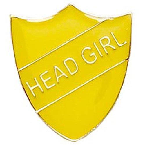 Head Girl emailliert Schule Metall Schild Anstecker, gelb (Girl Schild Metall)