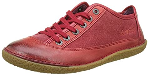 Kickers Hollyday, Baskets Basses Femme, Rouge (Rouge), 37 EU
