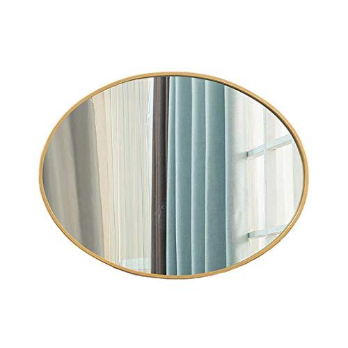 Klar Abgeschrägten Glas Licht (Miroir Oval Spiegel aus Glas Haushalt abgeschrägten Wandspiegel Hd Kosmetikspiegel für Rasur oder Make-up im Badezimmer (50x75cm) Wandspiegel)