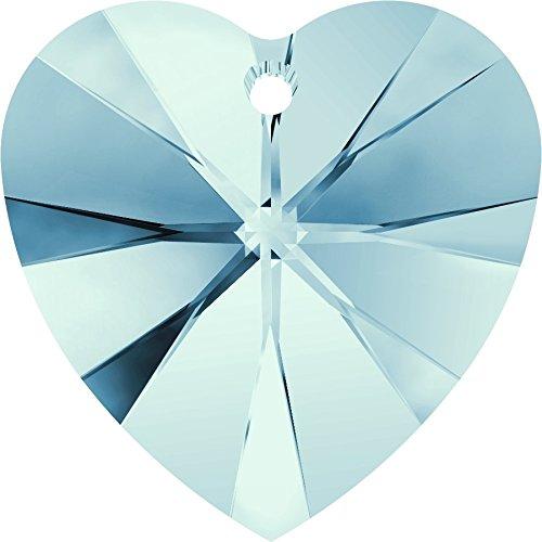 10,3x 10mm grande ciondolo a forma di cuore in aquamarin di swarovski
