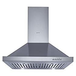 Elica Kitchen Chimney Push Button Control with Baffle Filter 60 cm, 1100 m/hr (SH 260 BF, Stainless Steel)