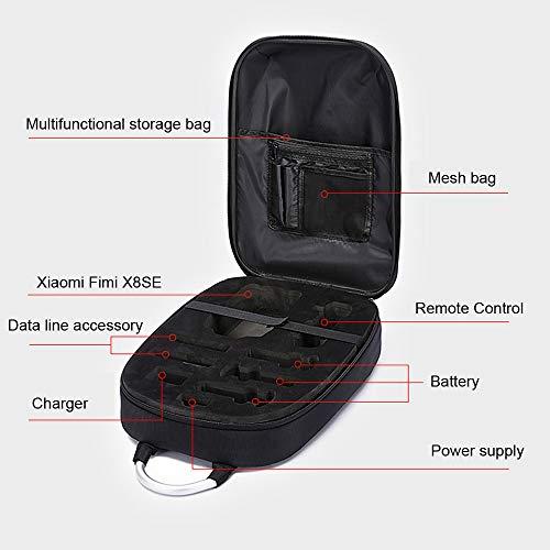 HKFV Coque PC étanche étanche à l'épaule Portable Boîte de Rangement Sac à Main Durable pour Xiaomi FIMI X8 Se Drone 7