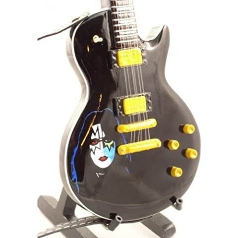 Mini Guitars - Chitarra Replica Gibson Les Paul Black Kiss Ace Frehley Music Legends Collection