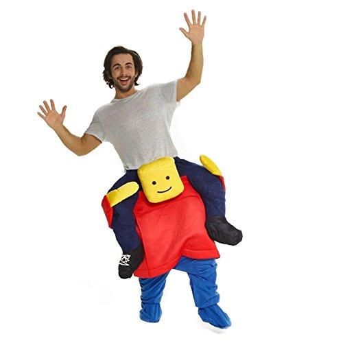 Morph MCPBBH Mach es selbst Füllung Halloween Karneval Huckepack Kostüm, Quadratischer Kopf, ()
