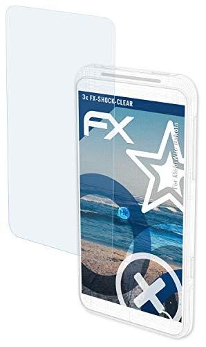 atFolix Schutzfolie kompatibel mit MobiWire Dakota Panzerfolie, ultraklare & stoßdämpfende FX Folie (3X)