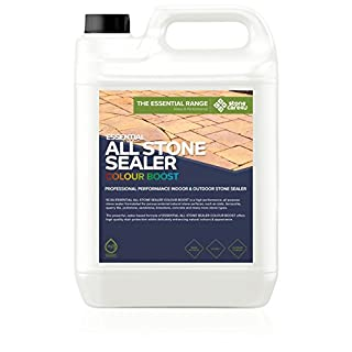 StoneCare 4u - Essential All Stone Sealer ColourBoost - 5 Litre – Eco Friendly, Highly Effective, Colour Enhancing Sealer for All Types of Natural Stone. Quick & Easy to Apply.
