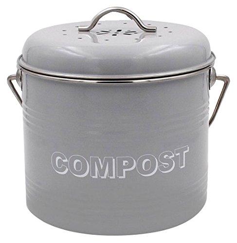 Lesser & Pavey Neuf Sweet Home Compost, métal, Gris, 21x 19x 20cm