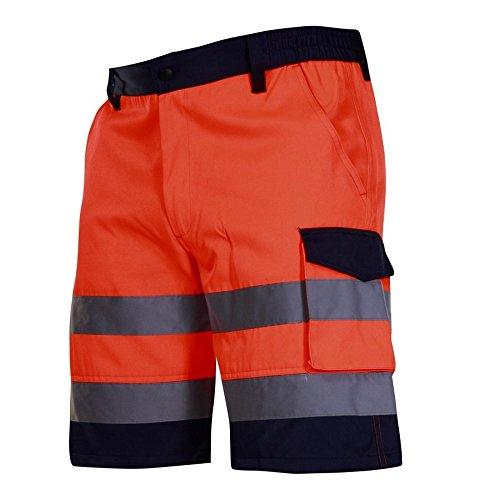 KREXUS Herren Arbeitshose Shorts kurze Warnschutzhose Orange Gr.XL CE EX0021_XL