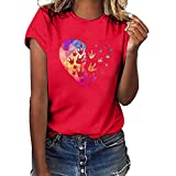 WOZOW Kurzarm T-Shirts Men Slogan I Love You 3000 Times for Ironman Letters Muster Print Druck Blouse Solid O Ausschnitt Loose Lose Geschenk Gift Oberteile Tops (L,Gelb)