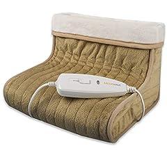 Idea Regalo - Medisana 60257 FWS Scaldapiedi Materiale traspirante extra-morbido, Riscaldamento rapido con 100 watt, 3 impostazioni di temperatura, Ampio spazio per i piedi