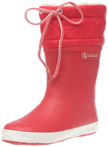 Aigle Giboulee 24538 Stivali da Neve per Bambini, Unisex, Rosso (Rouge/Blanc), 29 EU