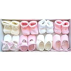 Patuco bebe niña 8 pares