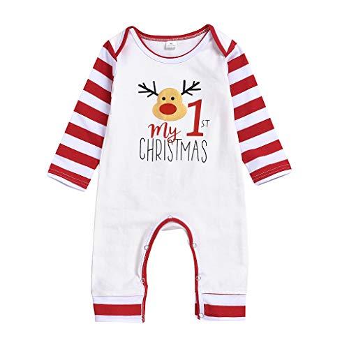 LEXUPE Baby Kleidung Set Mädchen Weihnachtsoutfit Baby Kleid Tütü Bodys Strampler Stirnband Beinwärmer Schuhe(Weiß,100) -