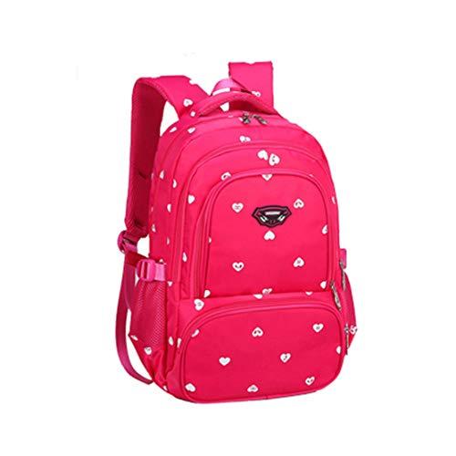 Smnyi Schule Kinder Rucksack Verschleißfest Nylon Schulrucksack Kawaii Mädchen Schulranzen Leicht Mode Backpack Schultasche