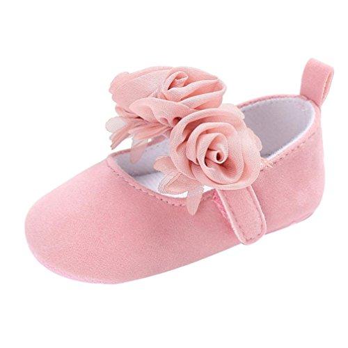 Ouneed® Krabbel schuhe , Herbst Hook & Loop flower Baby Infant Kids Girl Soft Sole Crib Toddler Newborn Shoes (0 ~ 6 Monate, Rosa)