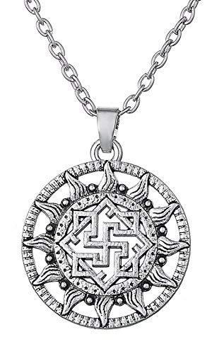 Dawapara Antikes nordisches Odin Valkyrie Symbol Wikinger Amulett nordisch skandinavisch Ethnic Anhänger Halskette Schmuck für Frauen Herren