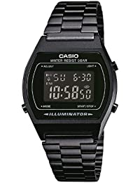 Casio Collection - Unisex-Armbanduhr mit Digital-Display und Edelstahlarmband - B640WB-1BEF