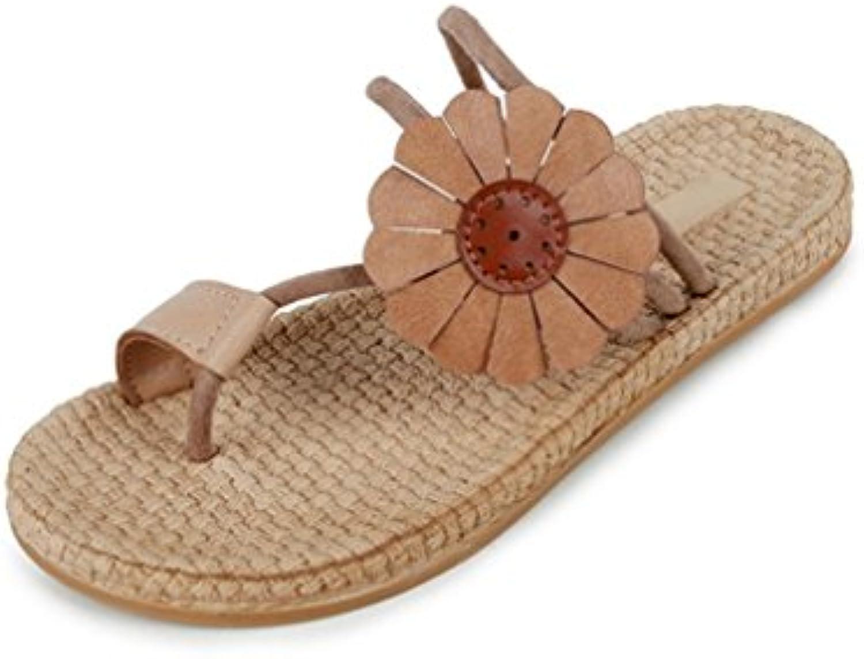 halijack femmes sandales, été les escarpins flat boucle ronde sandales sandales occasionnel tep faible croûton sandales sandales outdoor beach... bfb177