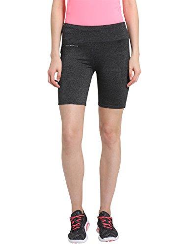 Ultrasport-Mallas cortas para mujer, color gris oscuro, talla S