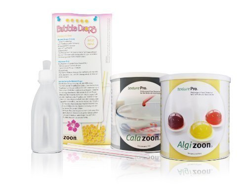 Molekulark�che Set f. Bubble-Tee Kugelchen, Perlen, liquid Drops etc. Mit Calazoon ( 400 g ), Algizoon ( 300 g ) & Zubeh�r. Als Geschenk oder Partyhighlight.